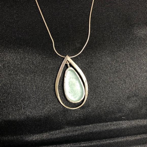 Roman Glass Co. Jewelry - Roman Glass Beautiful Blue Teardrop Necklace